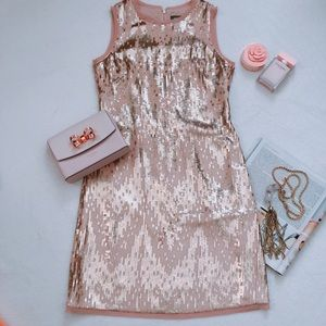 Vince Camuto Sleeveless Sequins Dress